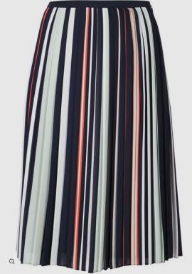 REBECCA MINKOFF stripped pleated skirt