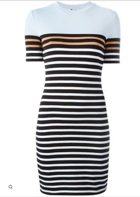 T BY ALEXANDER WANG stripped T-shirt dress